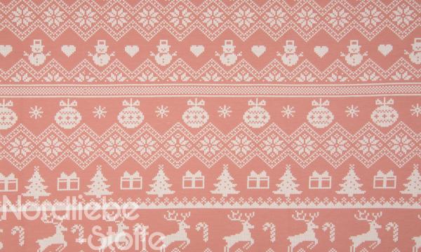 Kuschelsweat ~ Winter Strickoptik Oldrose