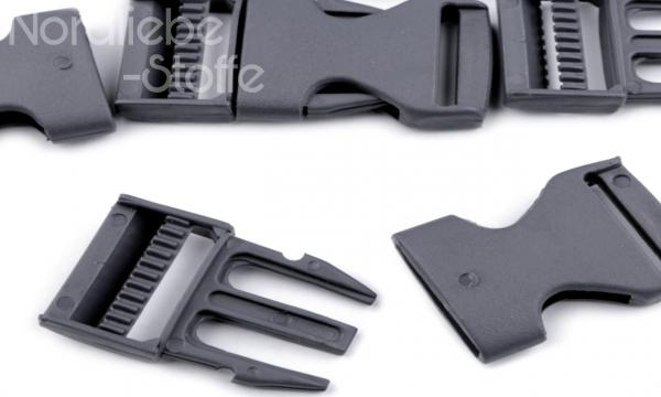 Steckschnalle grau 25mm