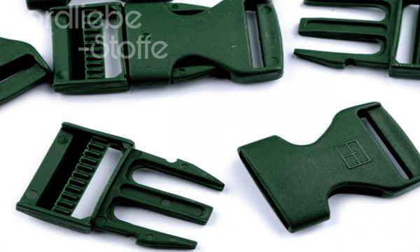 Steckschnalle dunkelgrün 25mm