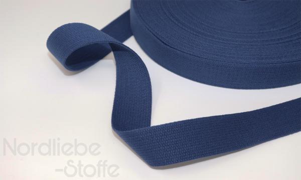 Baumwoll Gurtband 30mm blau