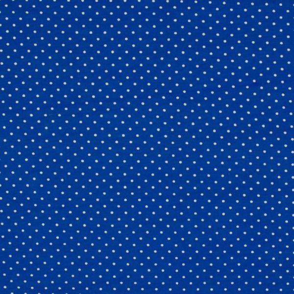 Jersey ~ Kleine Punkte Royalblau