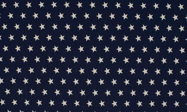 Baumwolle ~ Sterne auf Navy