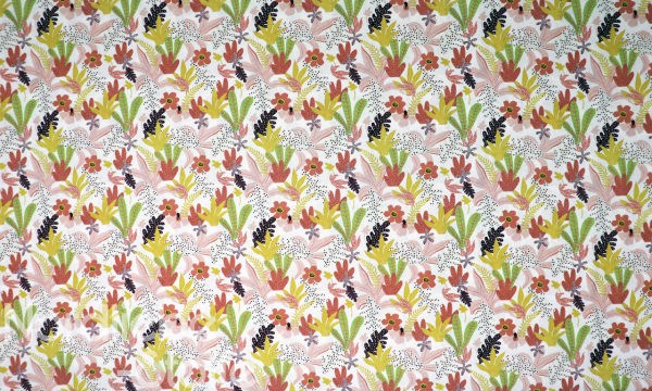GOTS Organic Baumwolle ~ bunte Blätter