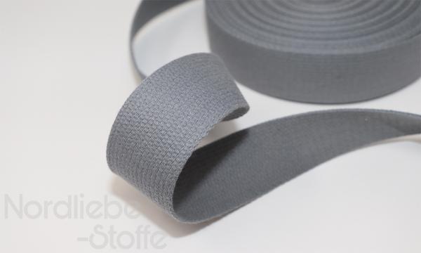 Baumwoll Gurtband 30mm grau