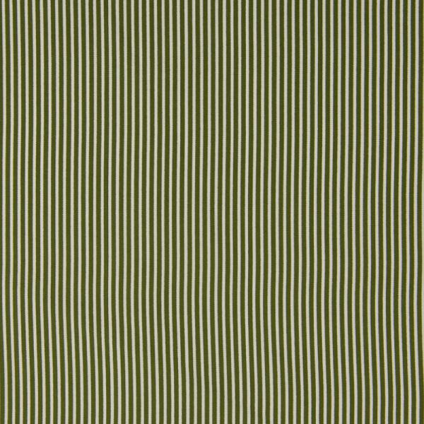 Baumwolle ~ zarte Streifen Khaki Weiß