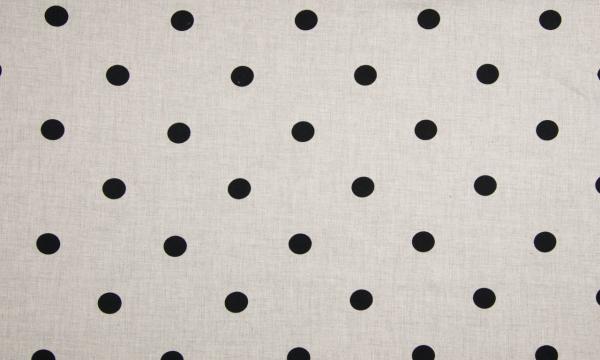 Viskose ~ MELANGE Light Grey große Punkte