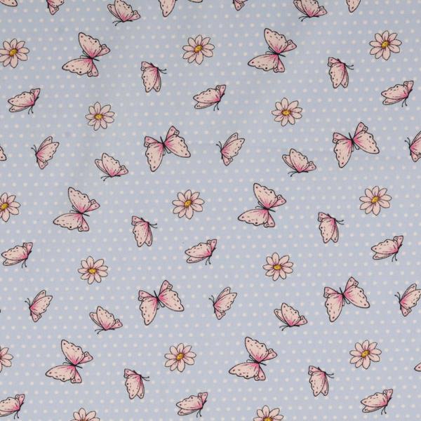 Baumwolle ~ süße Schmetterlinge Blau