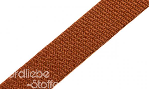 PP Gurtband 25mm mocca