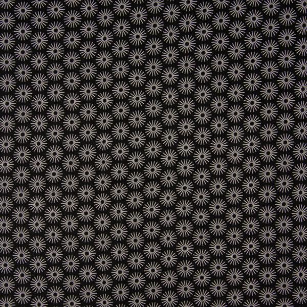Jersey ~ Blumen auf Schwarz