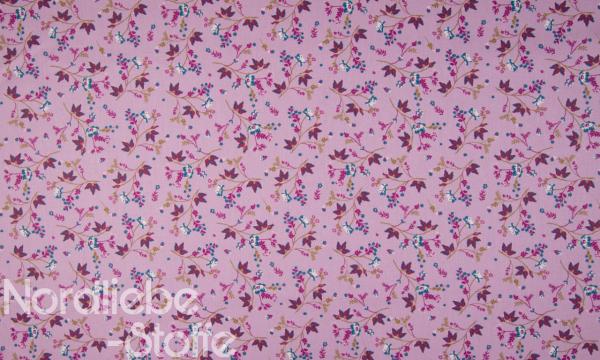 Baumwolle ~ Blumen Flieder