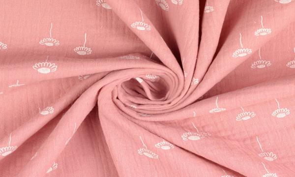 Musselin ~ Blumen auf Rosa
