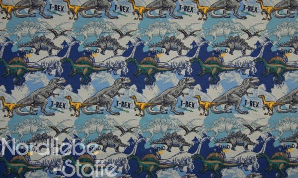 Jersey ~ Dinos Blau 0,5 m LETZTES Stück