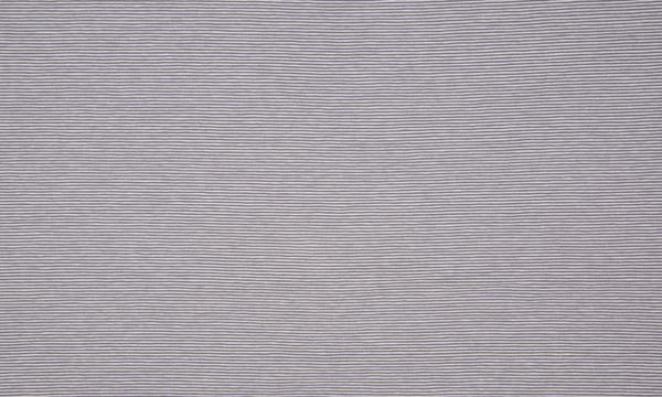 Jersey ~ zarte Streifen Grau Weiß
