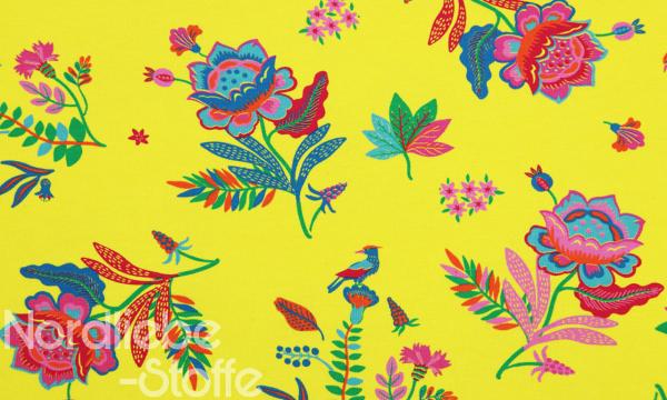 Jersey ~ bunte Blumen Gelb