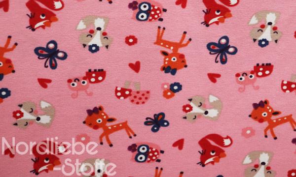 Jersey ~ Fuchs, Reh & Eule pink