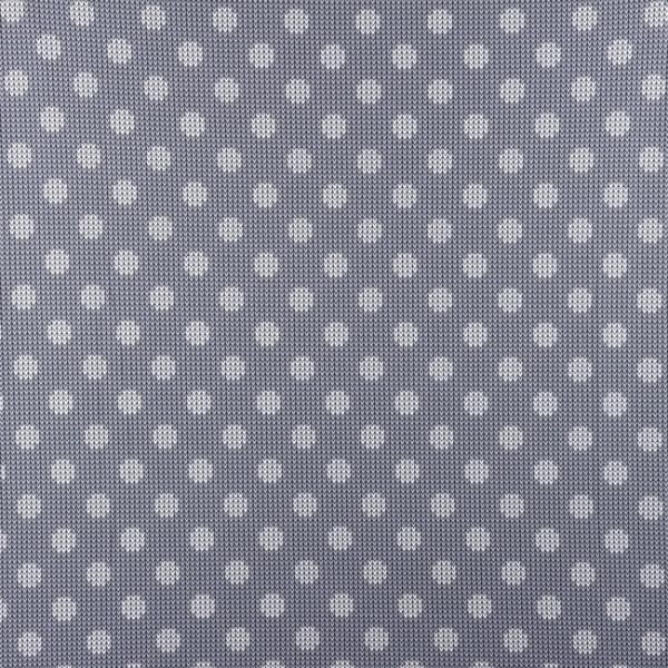 Jersey ~ Punkte Strickoptik Grau