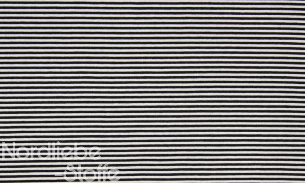 Ringel Bündchen ~ Schwarz Weiß 3mm