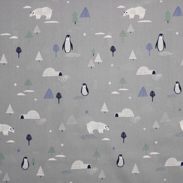 Baumwolle ~ Eisbären & Pinguine