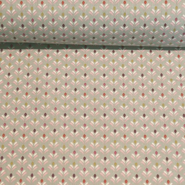 beschichtete Baumwolle ~ Joy Fully auf Grau