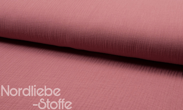 Musselin ~ Double UNI Old Pink