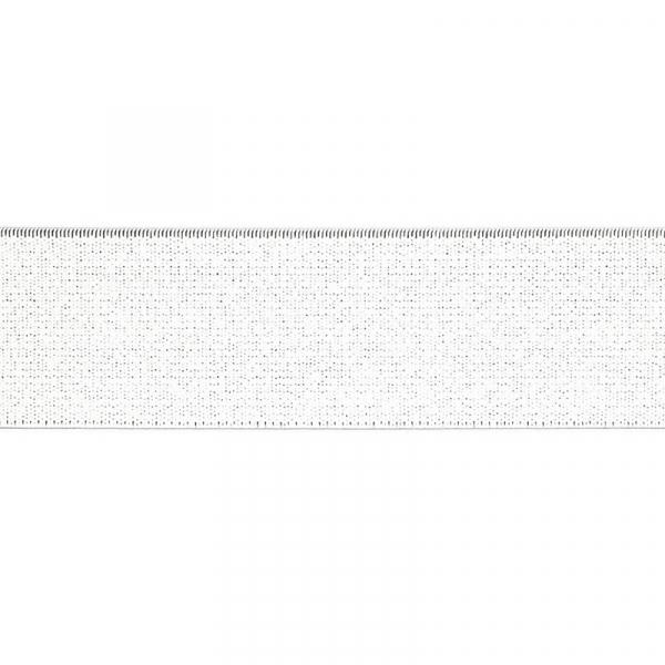 Gummiband elastisch 40 mm ~ UNI Weiß