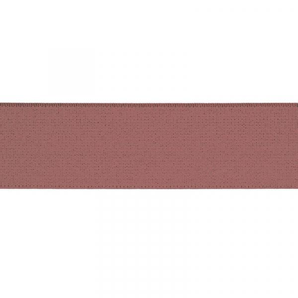 Gummiband elastisch 40 mm ~ UNI Old Rose