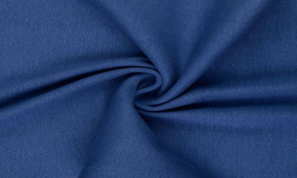 Bündchen Feinripp ~ UNI Jeansblau