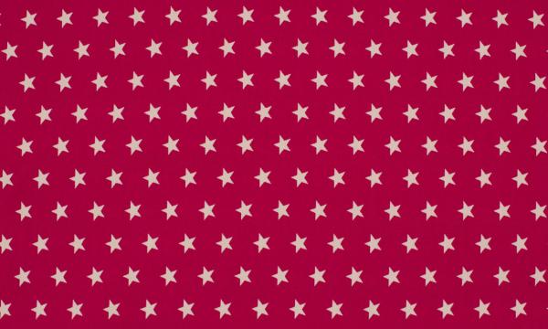 Baumwolle ~ Sterne auf Fuchsia