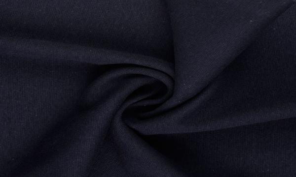 Bündchen Feinripp ~ UNI Dunkel Nachtblau