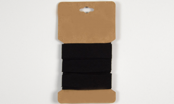 3 m Baumwoll Schrägband Schwarz 20mm