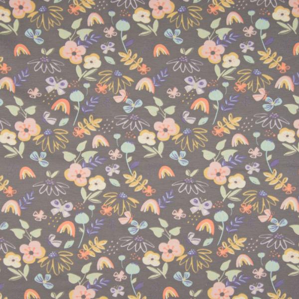 Jersey ~ Blumenwiese auf Grau