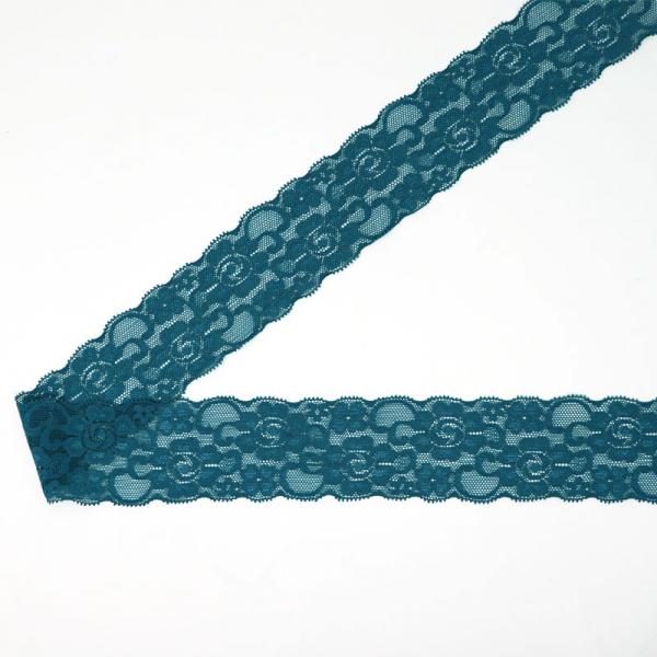 Spitzenborte elastisch 50 mm ~ Uni Petrol