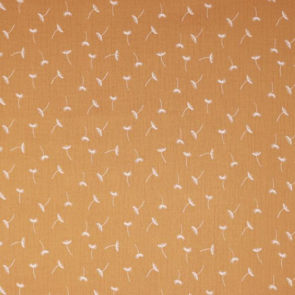 Musselin ~ kleine Pusteblume Ocker