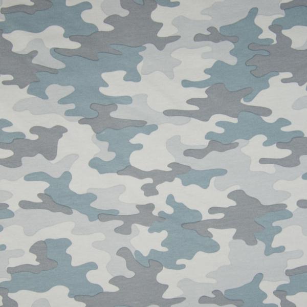 French Terry ~ Camouflage Tarnoptik Staubblau