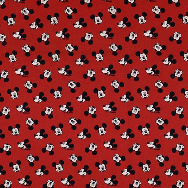 Lizenz Walt Disney Baumwolle ~ Mickey Mouse Kopf Rot 0,69 m LETZTES Stück