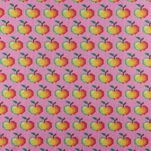 Jersey ~ Äpfel Strickoptik Rosa