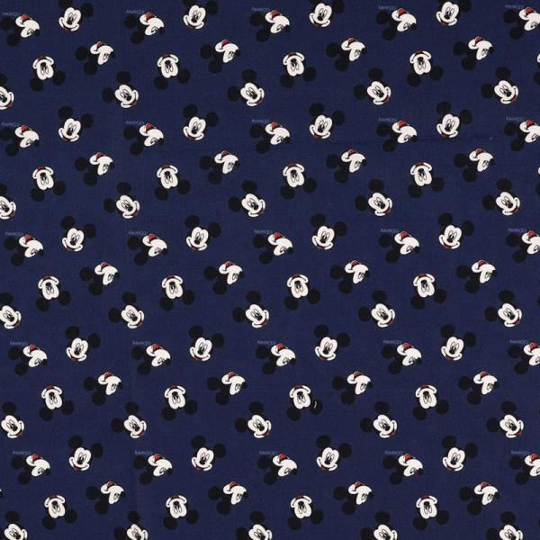 Lizenz Walt Disney Baumwolle ~ Mickey Mouse Kopf Blau