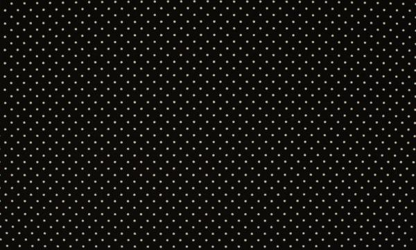 Baumwolle ~ kleine weiße Punkte auf Schwarz