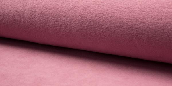 Baumwoll Fleece ~ Altrosa 0,9 m LETZTES Stück