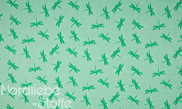 Jacquard ~ Libellen Grün