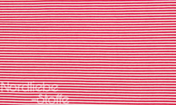 Ringel Bündchen ~ Rot Weiß 3mm