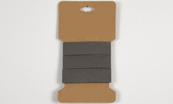 3 m Baumwoll Schrägband Dunkelgrau 20mm