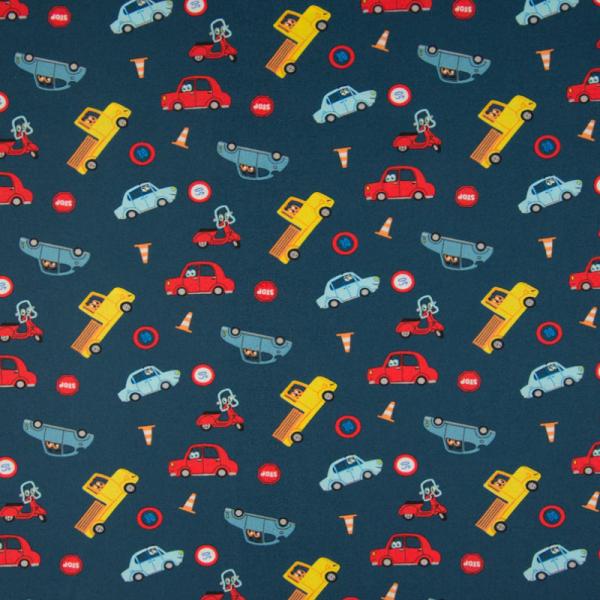 Baumwolle ~ Fahrzeuge Blau