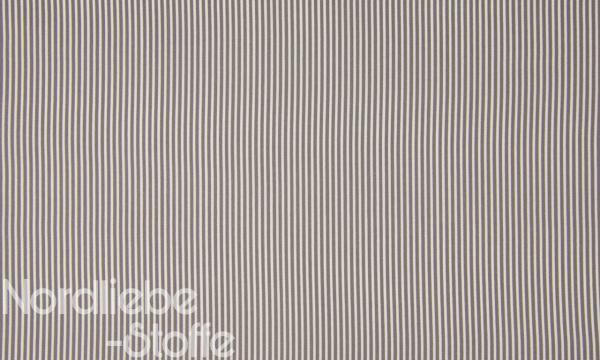 Baumwolle ~ zarte Streifen Taupe Weiß