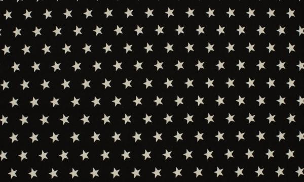Baumwolle ~ Sterne auf Schwarz