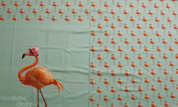 Jersey Panel ~ Flamingo Grün (11)