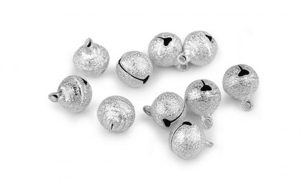 Metall Glöckchen / Schellen Silber