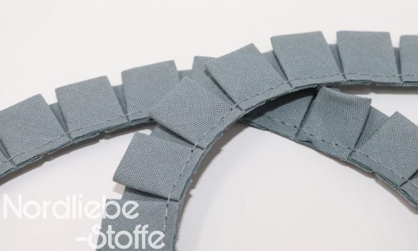 Rüschenband 18mm hellgrau