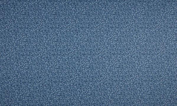 Baumwolle ~ Punkte auf Blau