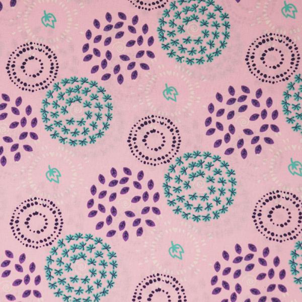 ORGANIC Baumwolle ~ Blätter Mini Rosa